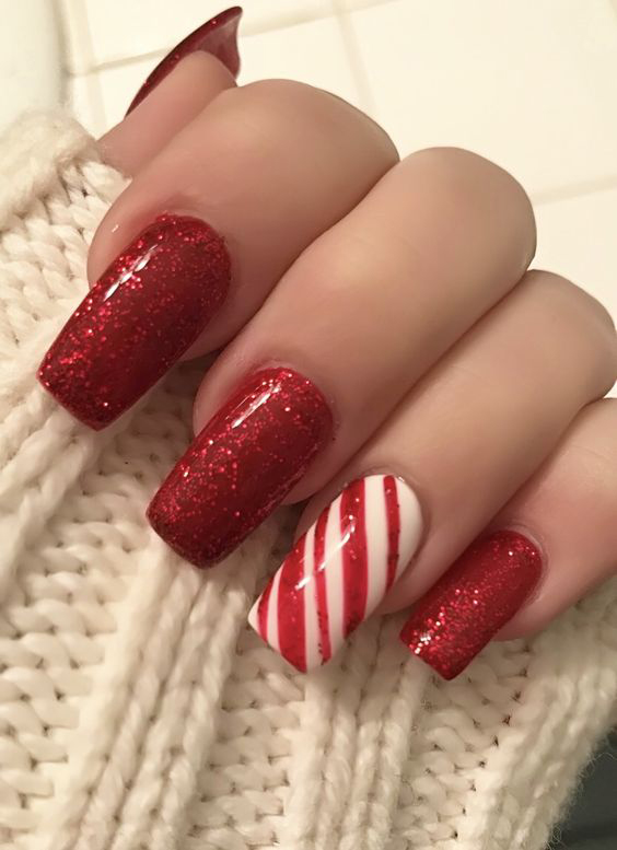 59+ Christmas Nail Art Ideas for Early 2020