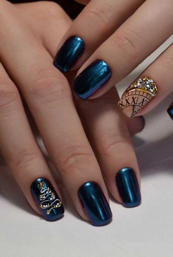Bright Colors For New Year Nails 2019 Clock Design Sumcoco Blog