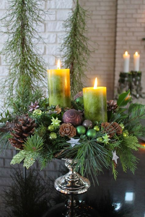 Table Decorations; Christmas Candles; DIY Christmas Centerpiece;Christmas Crafts; Christmas Decor DIY