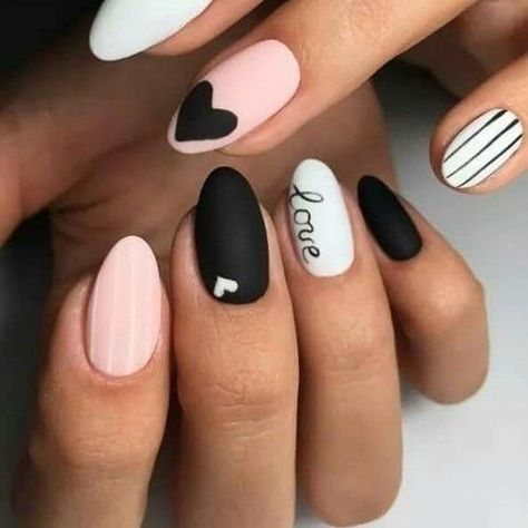 2019 easy tutorials of hot valentines nails designs