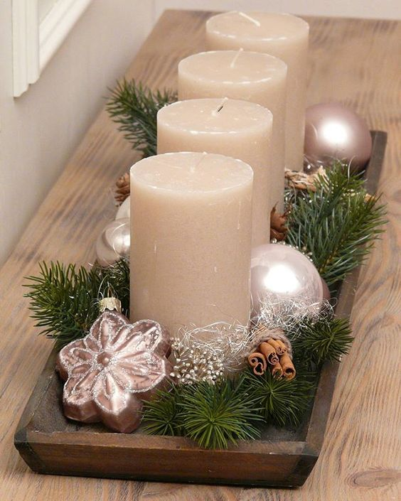 PERFECT CHRISTMAS CANDLES; Table Decorations; Christmas Candles; DIY Christmas Centerpiece;Christmas Crafts; Christmas Decor DIY
