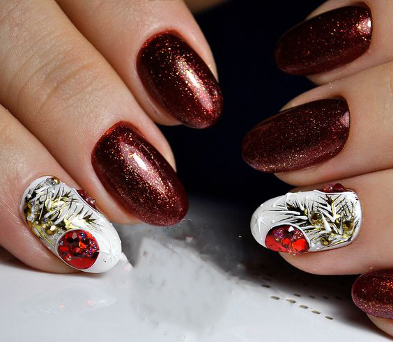 Amazing 3D Winter Snowy Nails Art Design; Christmas nails; winter nails; Snow nails; White nails;