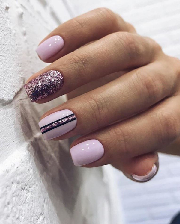 Eye Catching Winter Nail Art Design; Winter Nails; Glitter Nails; Geomatic Nails; Nails Art; Nails Design; Nails;