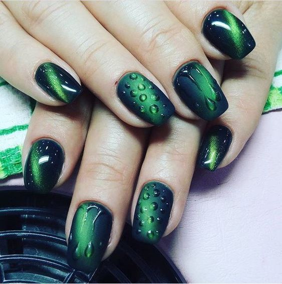 30+ Outstanding Emerald Green Nails Art Designs For You Sumcoco Blog