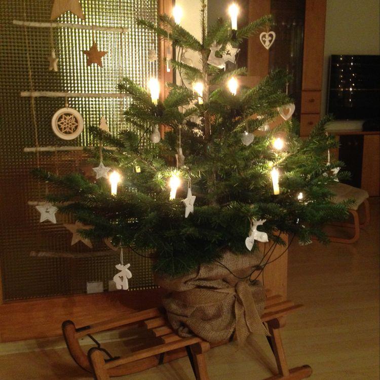Christmas Tree on a sleigh; Santa in sleigh; Christmas Decorations; Table Decorations; Christmas Decorations; DIY Christmas Centerpiece;Christmas Crafts; Christmas Decor DIY; sleigh Decorations