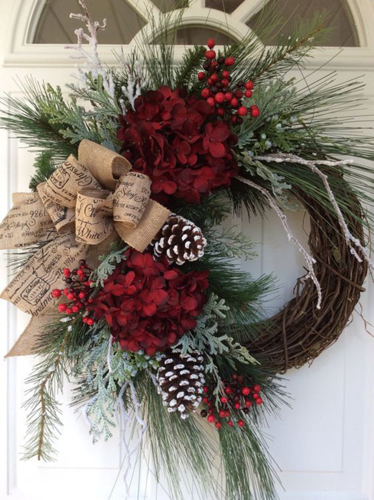 Rustic Christmas Wreath Diy.30 Rustic Christmas Wreath Ideas On A Budget Sumcoco