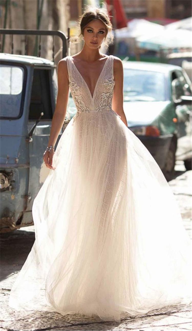 Sexy V Neck Princess Wedding Dress, White Wedding Dresses, Sexy Wedding Dresses, Beautiful Wedding Dresses. Off-The-Shoulder Wedding Dresses, V Neck Mermaid Dresses.