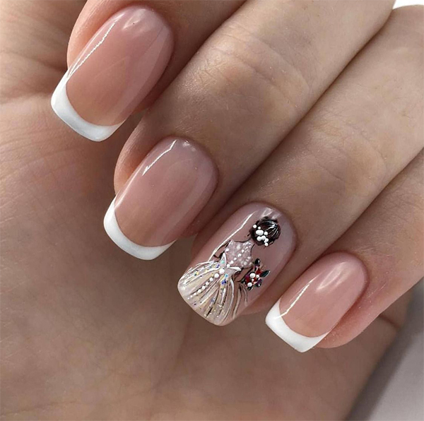 20+ Ballerina Nails Acrylic Nail Designs Make You Elegant for New Year, acrylic nail ideas,manicure, ombre acrylic nails, Дизайн ногтей, acrylic nail designs