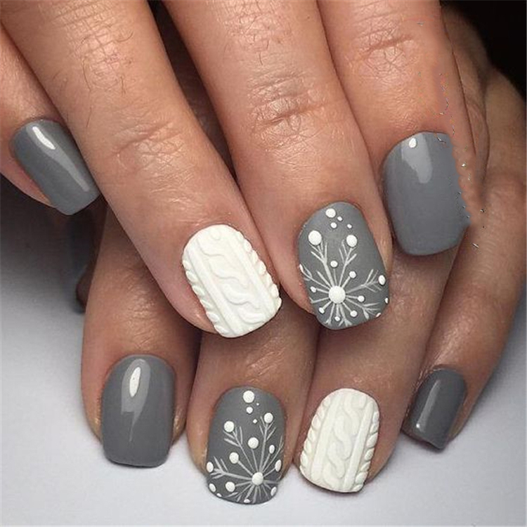 30 Snowflake Square Winter Nails Ideas Try In 2019 Sumcoco Blog