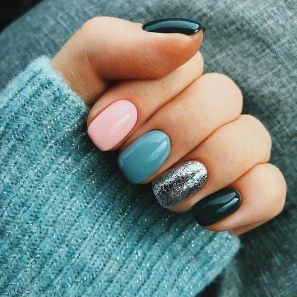 Trend Nails For Winter; Nail Designs; Winter Nails; Glitter Nails; Nail Art; Nails Acrylic Nail; #Sumcoco