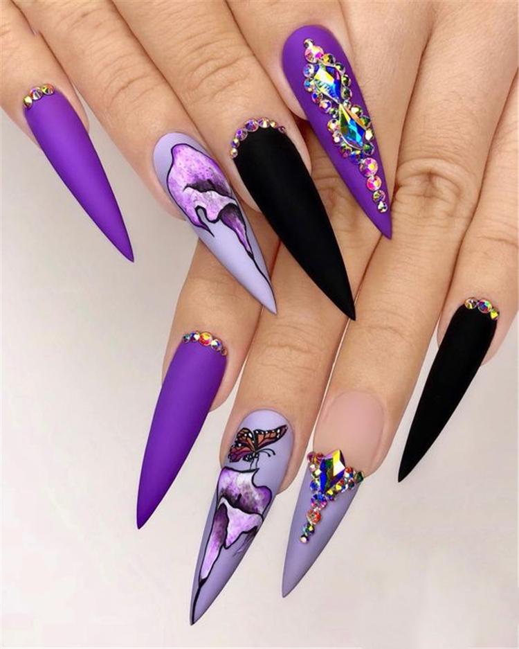 Trend Stiletto Nails in 2019; Stiletto Coffin Nails; Stiletto Nails Designs; Nails Acrylic;#Stilettonails