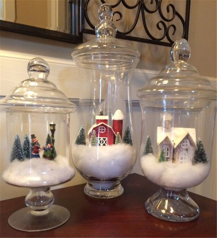 25 Diy Christmas Apothecary Jar Table Decorations Sumcoco Blog