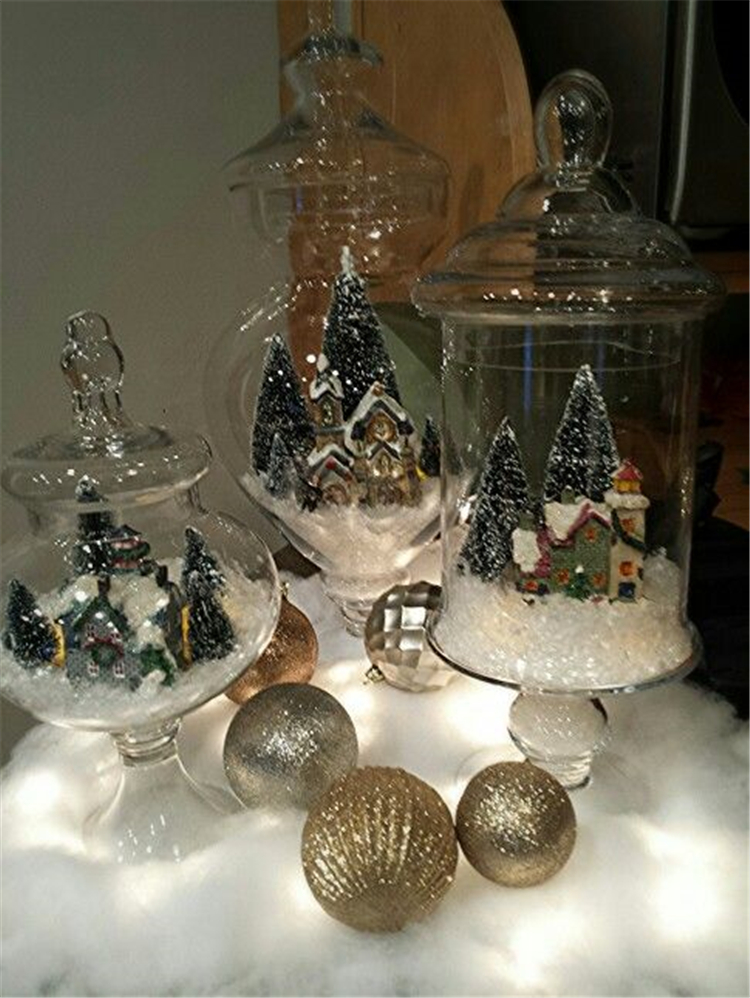 25 Diy Christmas Apothecary Jar Table Decorations