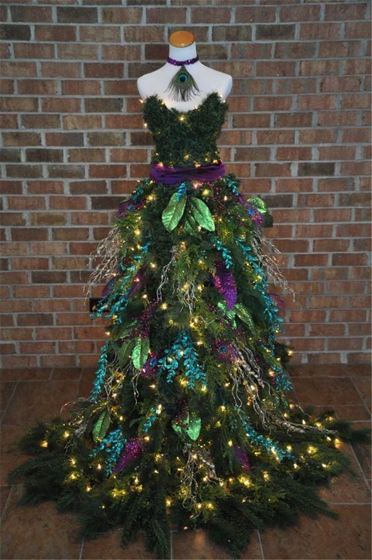 Christmas Tree Mannequin Dress.24 Diy Mannequin Christmas Tree Dress Decorations Tutorials