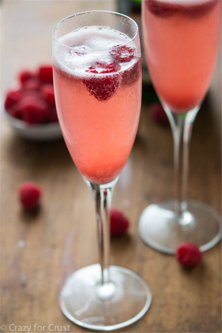 Champagne Punch Bellini Champagne, sorbet, and raspberries combine to make a delicious punch-flavored drink.