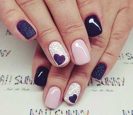 Valentine's Day nails; red nail art designs; pink nails; heart nails; acrylic nails.