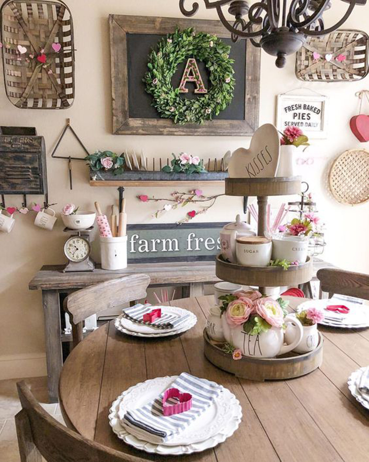 Romantic Valentines Day Table Decor Ideas; #Valentine'sdaydecor valentines day Inspiration