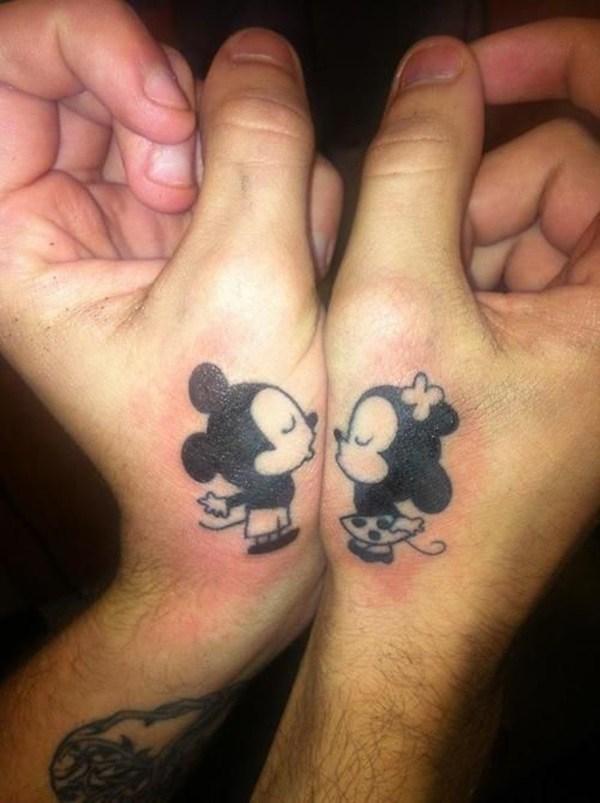 Valentine's Day Matching Couple Tattoos Ideas; Couple Tattoo Ideas; Couple Tattoos; Matching Couple Tattoos;