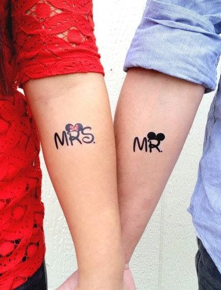 Valentine's Day Matching Couple Tattoos Ideas; Couple Tattoo Ideas; Couple Tattoos; Matching Couple Tattoos;