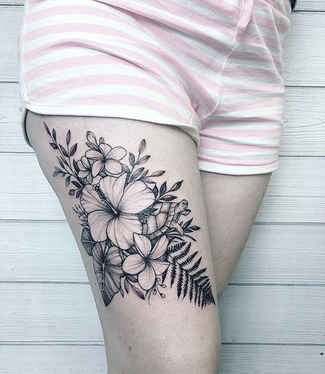 Hibiscus Tattoo Thigh Best Tattoo Ideas