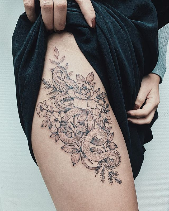 Thigh Tattoos Versatile Thigh Tattoos Inspirations For