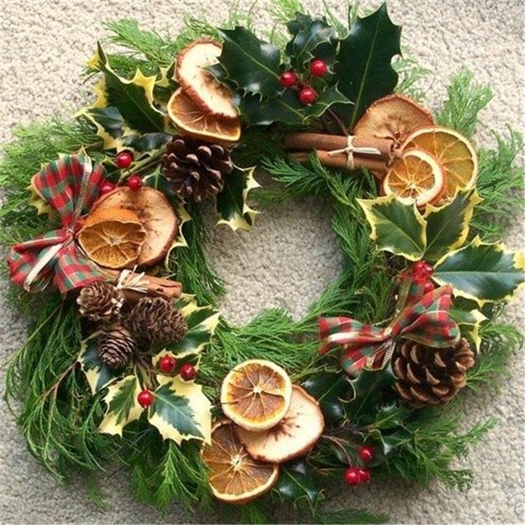 Rustic Natural Fruits Winter Decoration; DIY Christmas Centerpiece; Christmas Crafts; Christmas Decor DIY; Rustic Natural Decoration; Home Decor;