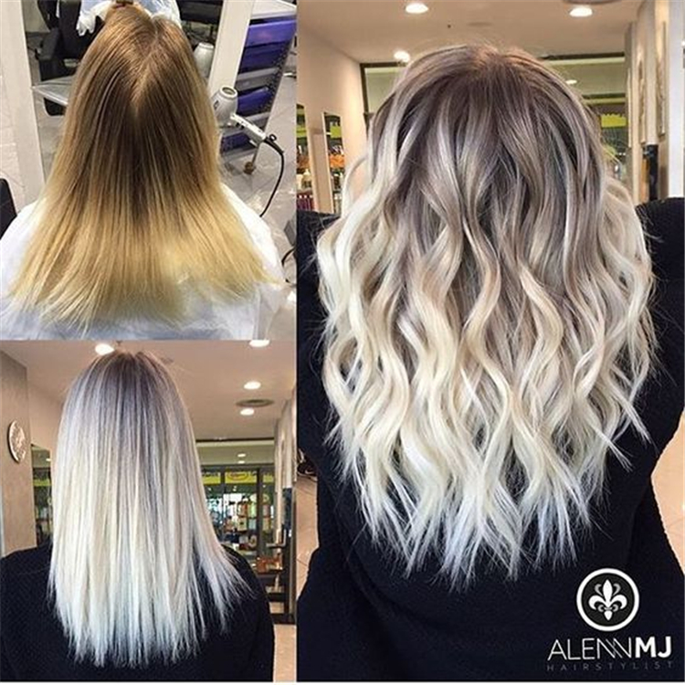 Hair Color Trends In 2019 Before & After: Highlights On Hair + Tips; Curl Hair;Trendy Hairstyles And Colors 2019; Women Hair Colors;