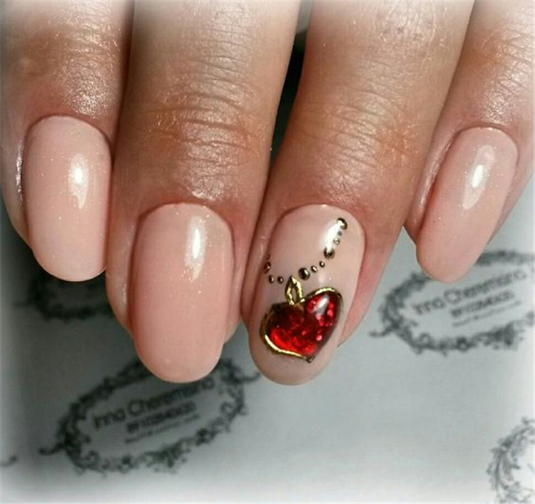 #Valentine'sDaynails; red nail art designs; pink nails; heart nails; acrylic nails.