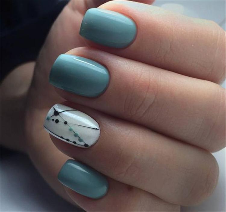 2019 Fascinating Square Acrylic Nails In Spring Summer Season