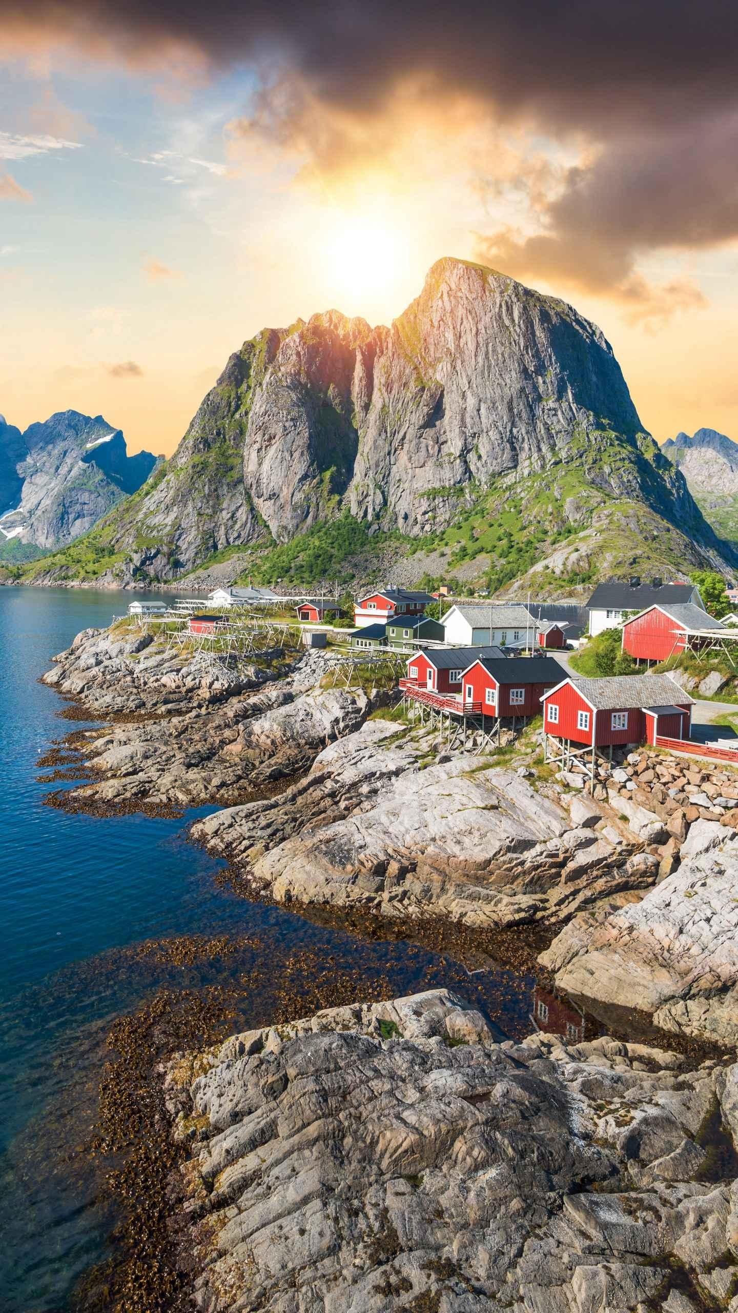 Norway - Lofoten Islands. The fishermen's cabins are built on the sea and have a Nordic character, radiating warm brilliance on this Arctic island. Girls trip ideas; Tourism; Adventure travel; Wanderlust;