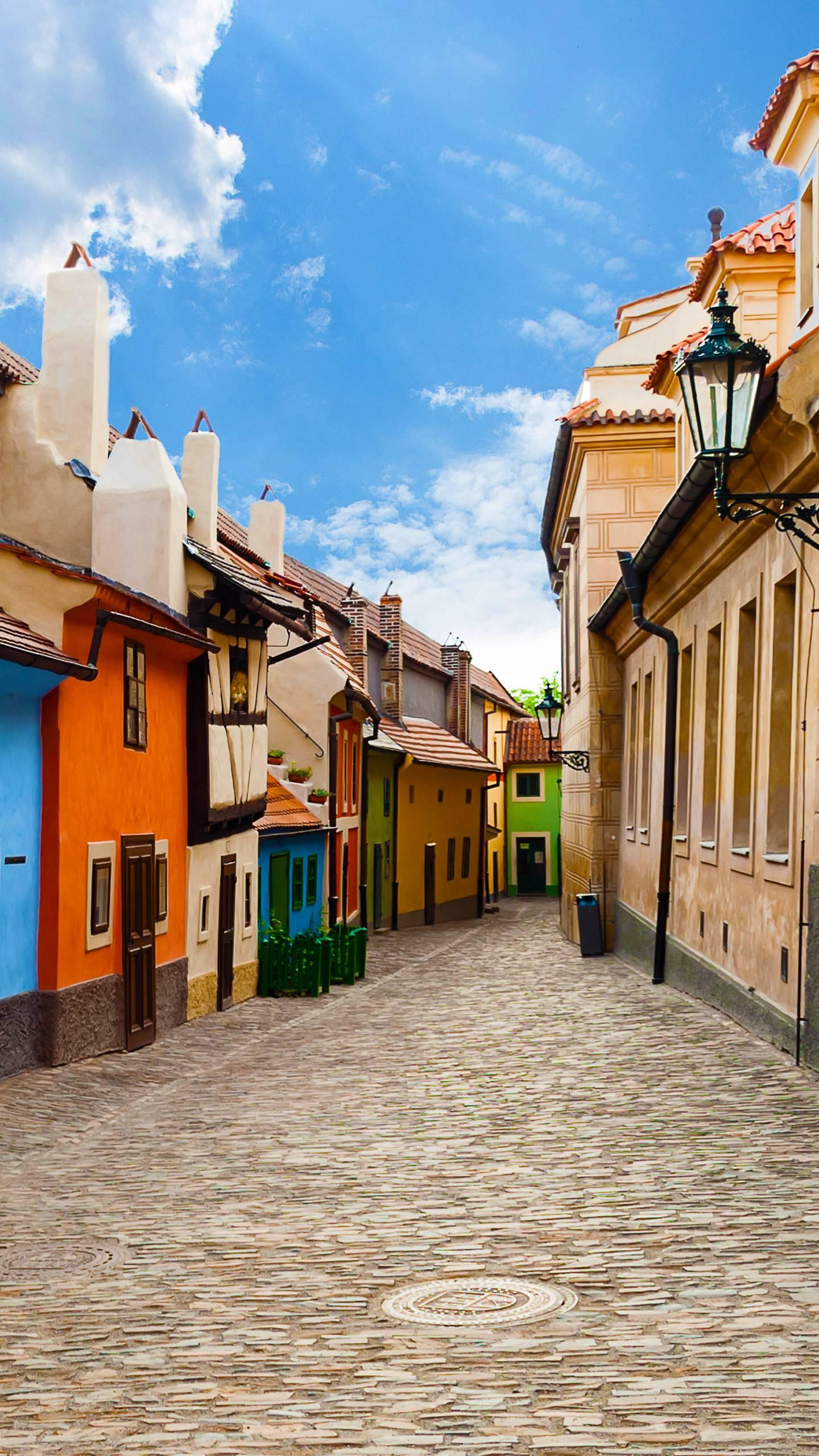 Prague - Golden Lane. Prague's most poetic street has a fairytale-like house, where the famous writer Kafka once lived.