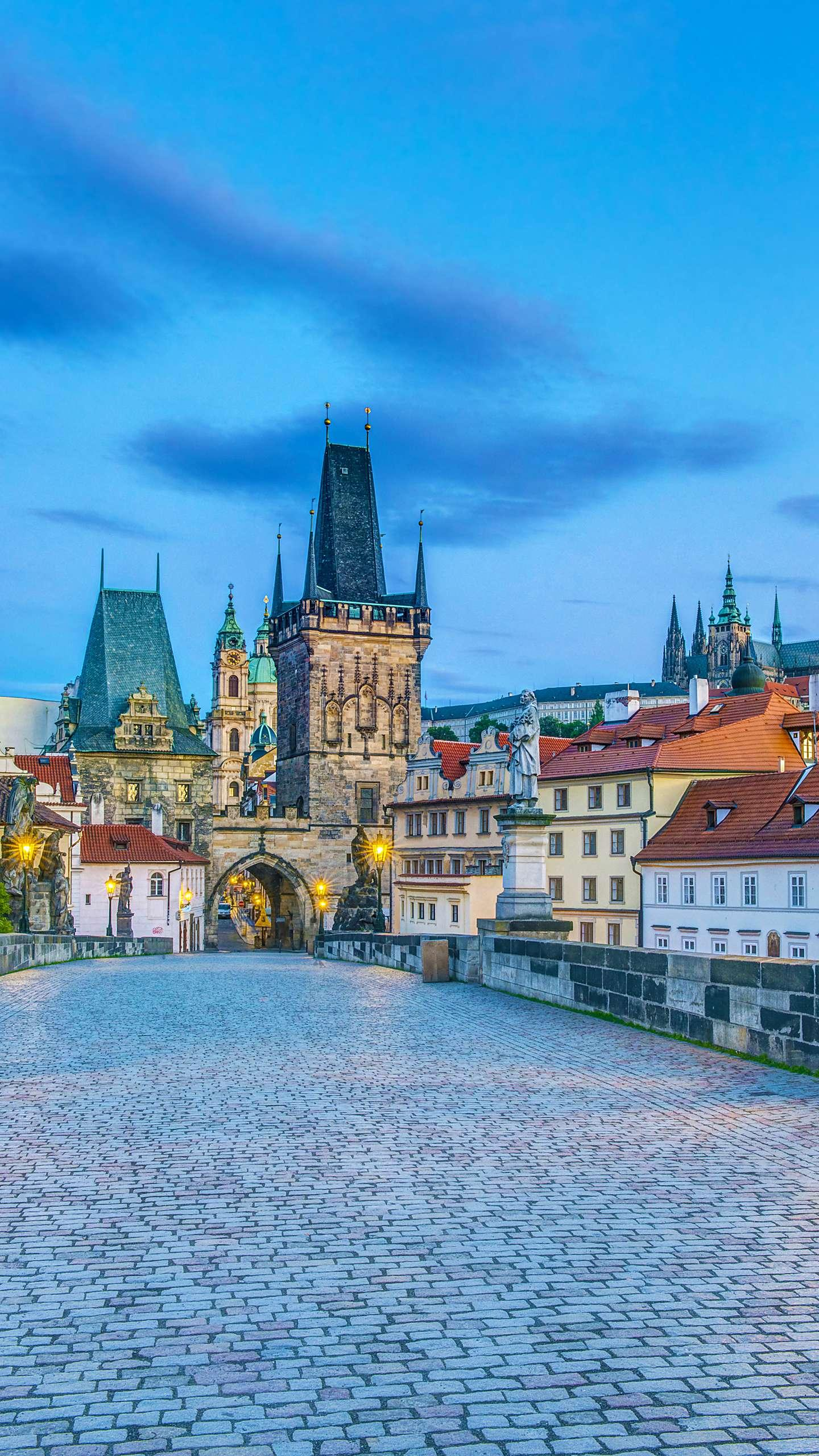 Prague - Charles Bridge. It has a history of more than 650 years and has become one of Prague's most famous monuments with its long history and architectural art.