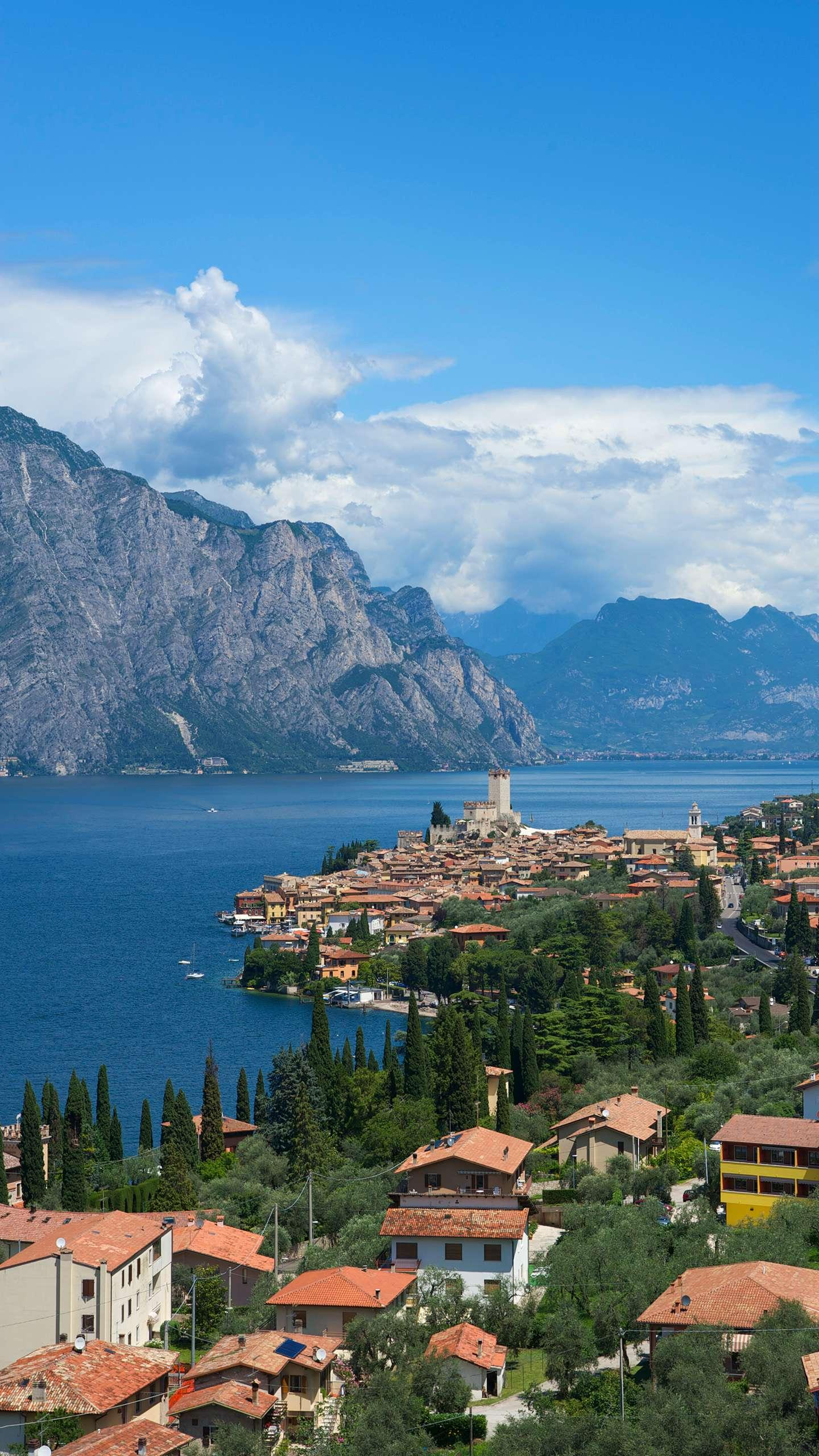 Italy - Lake Garda. Italy's largest inland lake, with its ancient castles and charming lakeside towns along the coast, is very attractive.