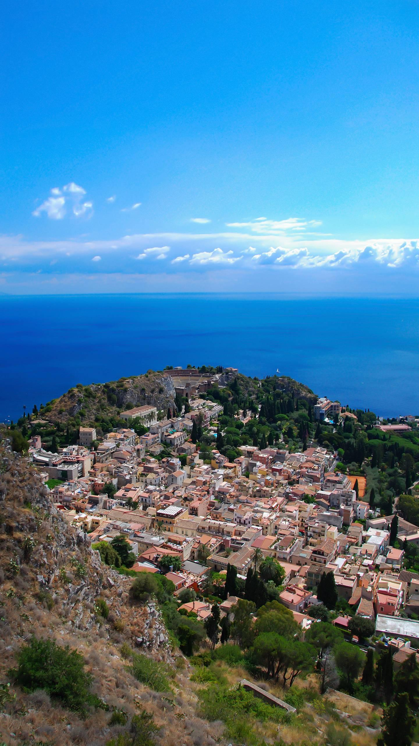 Sicily - Taormina. The beautiful Taormina is the jewel of Sicily, and it is like walking in paradise.