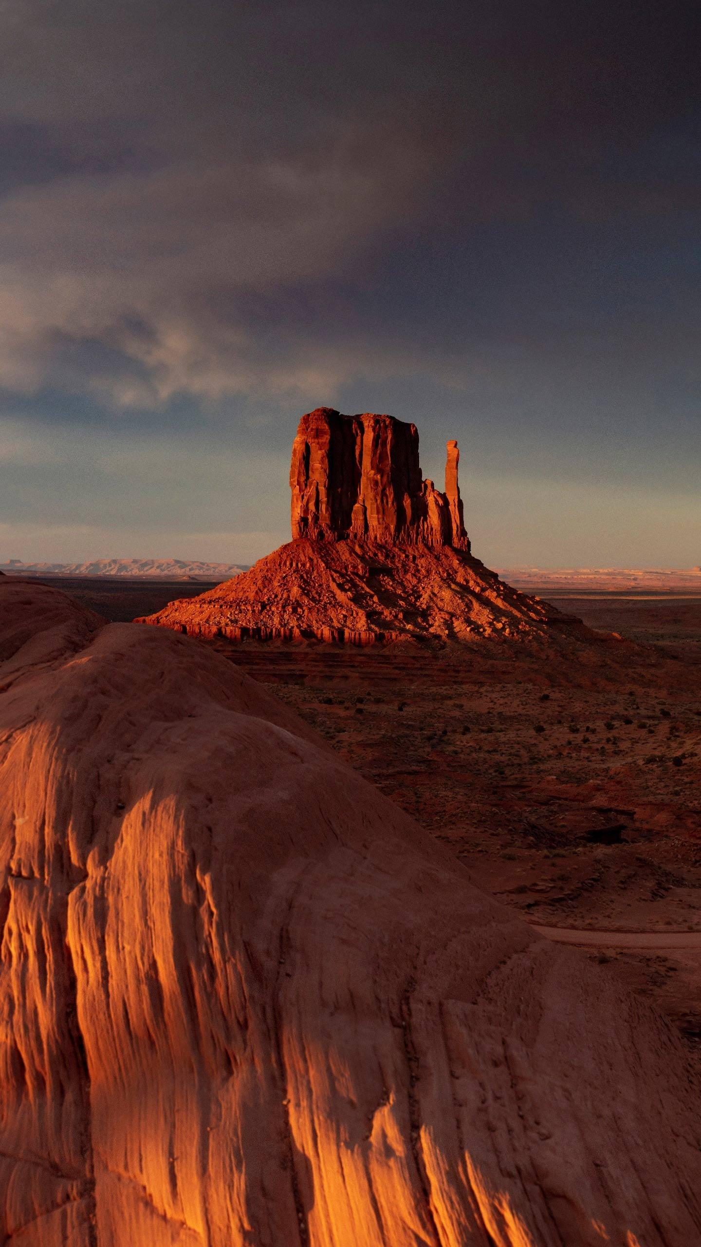 Utah, USA. The Arizona Monument Valley is one of the top ten enchanting deserts in the United States and is part of the Colorado Plateau.