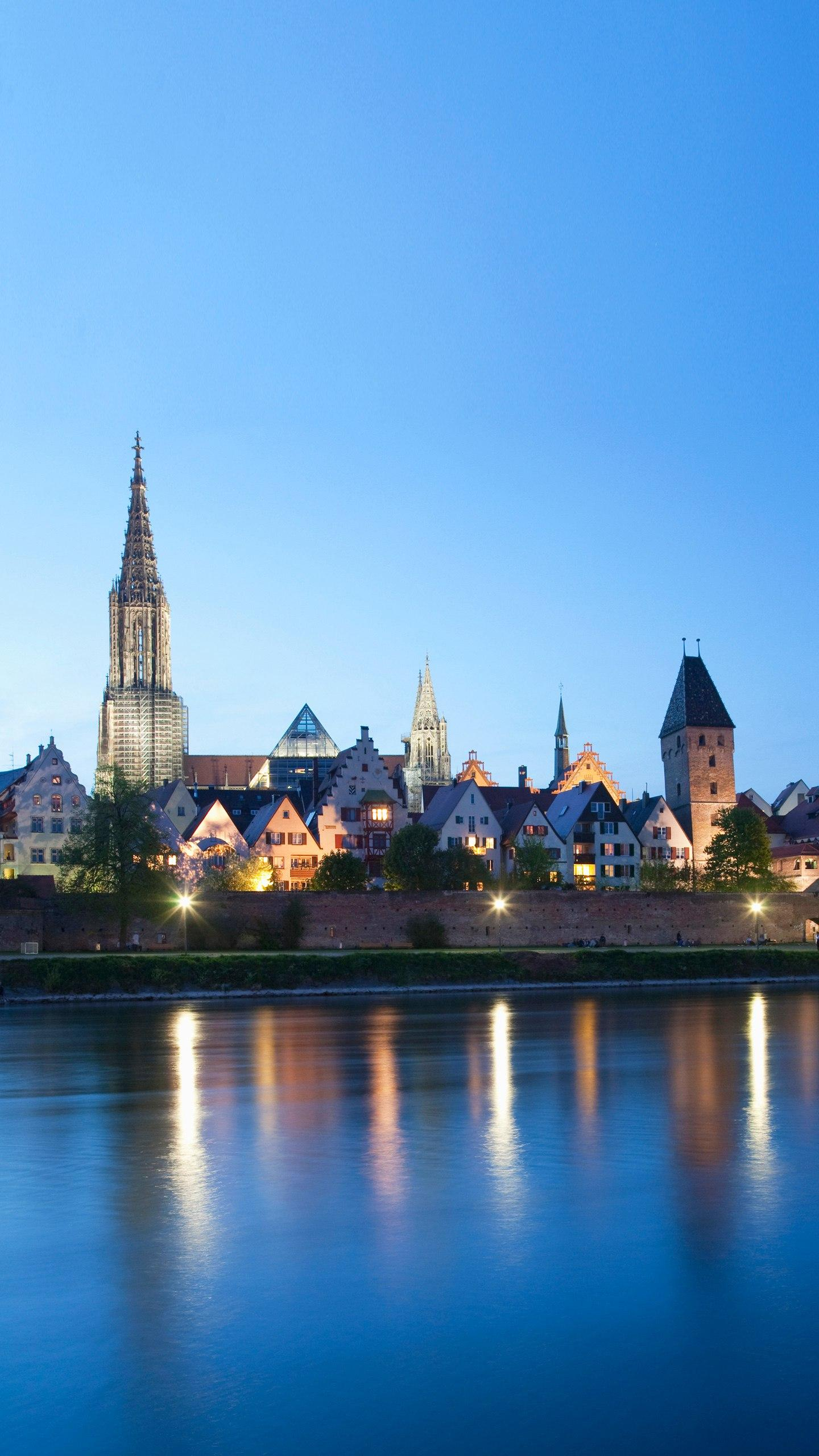 Germany - Ulm. A quiet and quiet town on the Danube River is also the birthplace of Einstein.