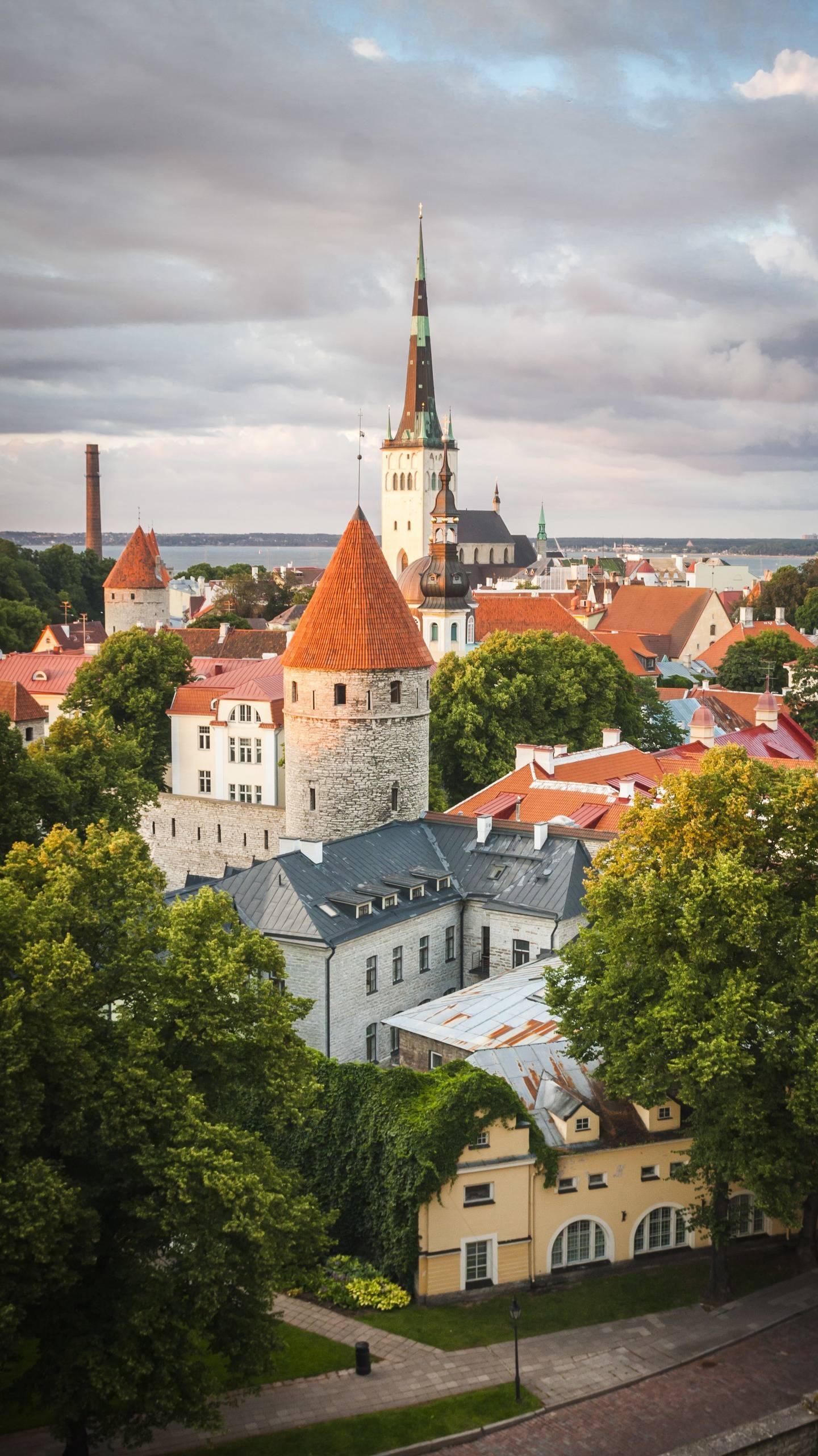 Tallinn, Estonia. Tallinn is located on the Baltic coast of northern Estonia, across the sea from the Finnish capital Helsinki.