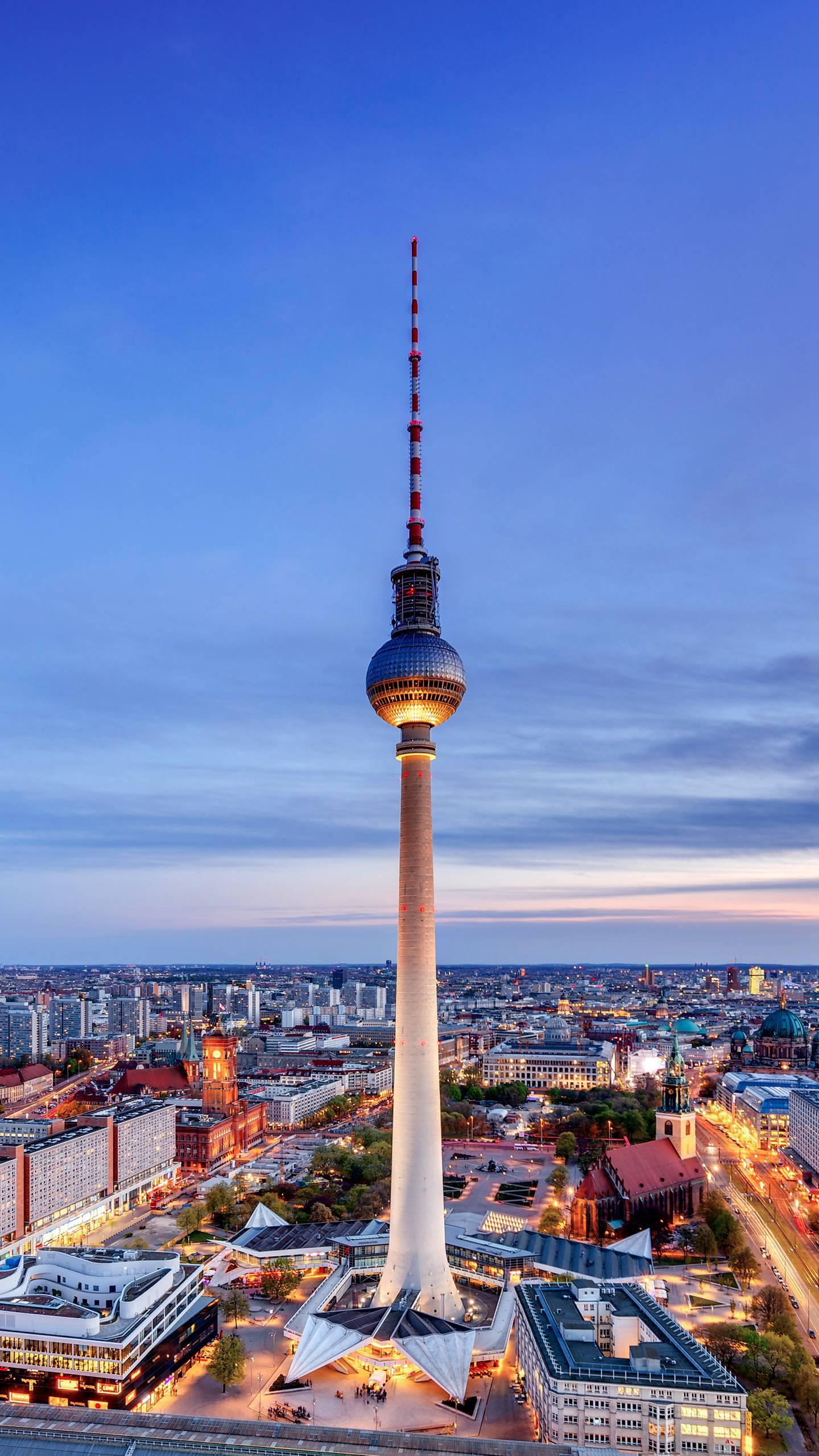 Berlin TV Tower. The tallest building in Berlin, you can see it anywhere in Berlin.