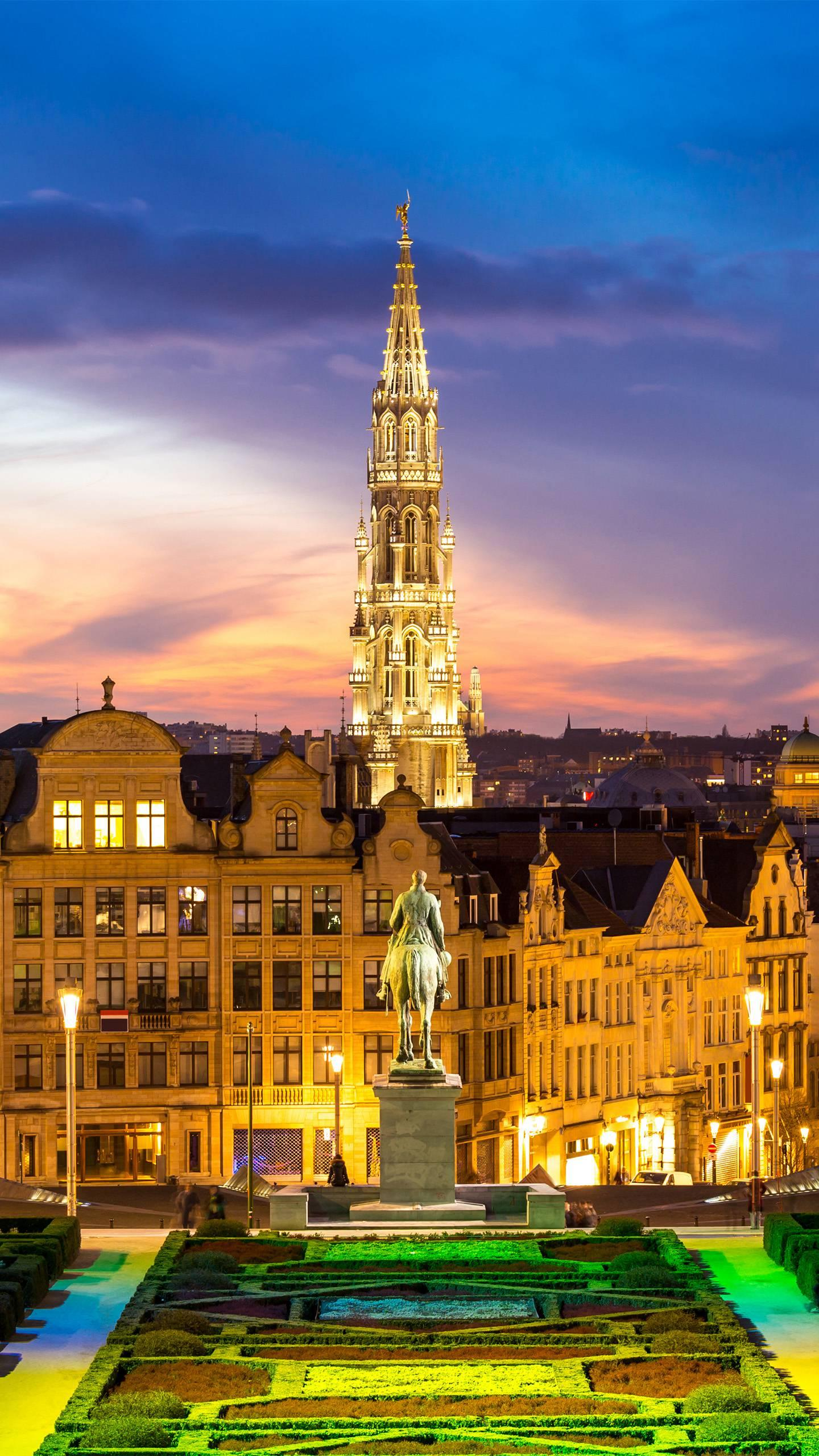 Brussels, Belgium. With the most beautiful buildings and museums in Europe, it retains many ancient buildings left over from the Middle Ages.