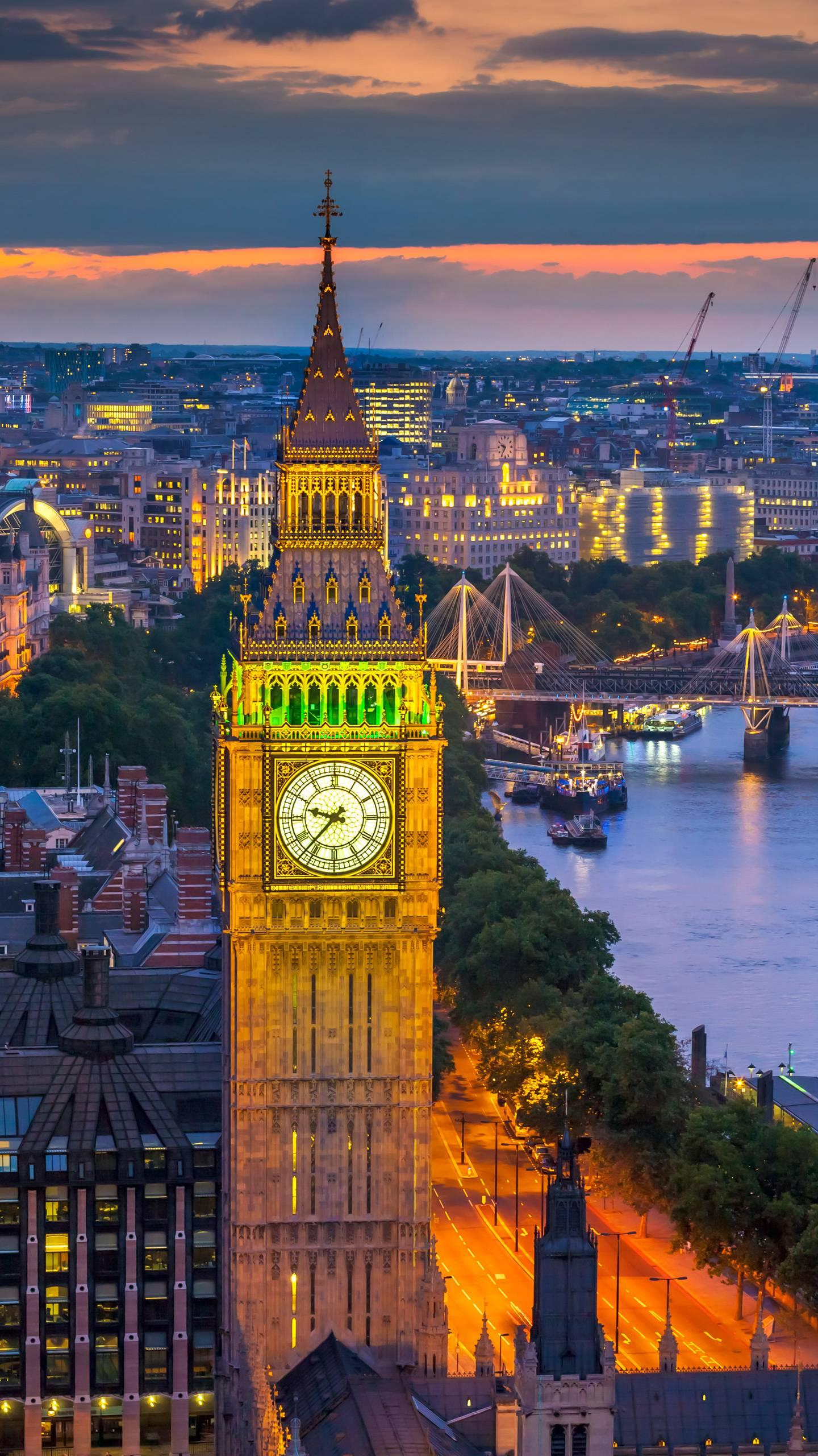 London - Elizabeth Tower. One of the world's most famous Gothic buildings, the traditional landmark of London.
