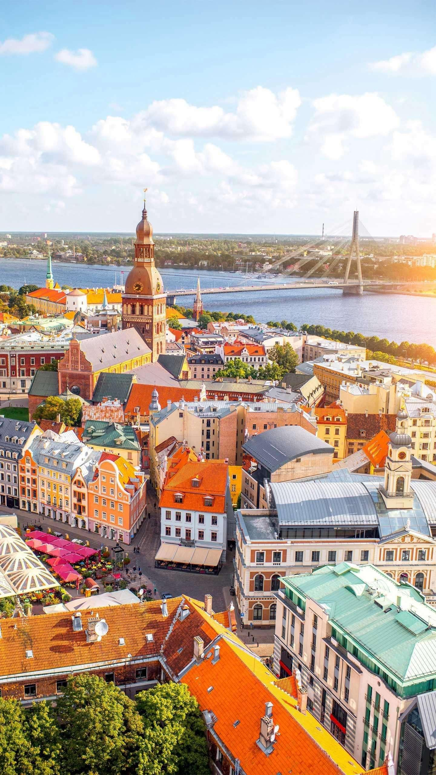 """The capital of Latvia: Riga. Latvia is also known as the """"Lung of Europe"""", and its capital, Riga, is known as the heart of the Baltic Sea."""