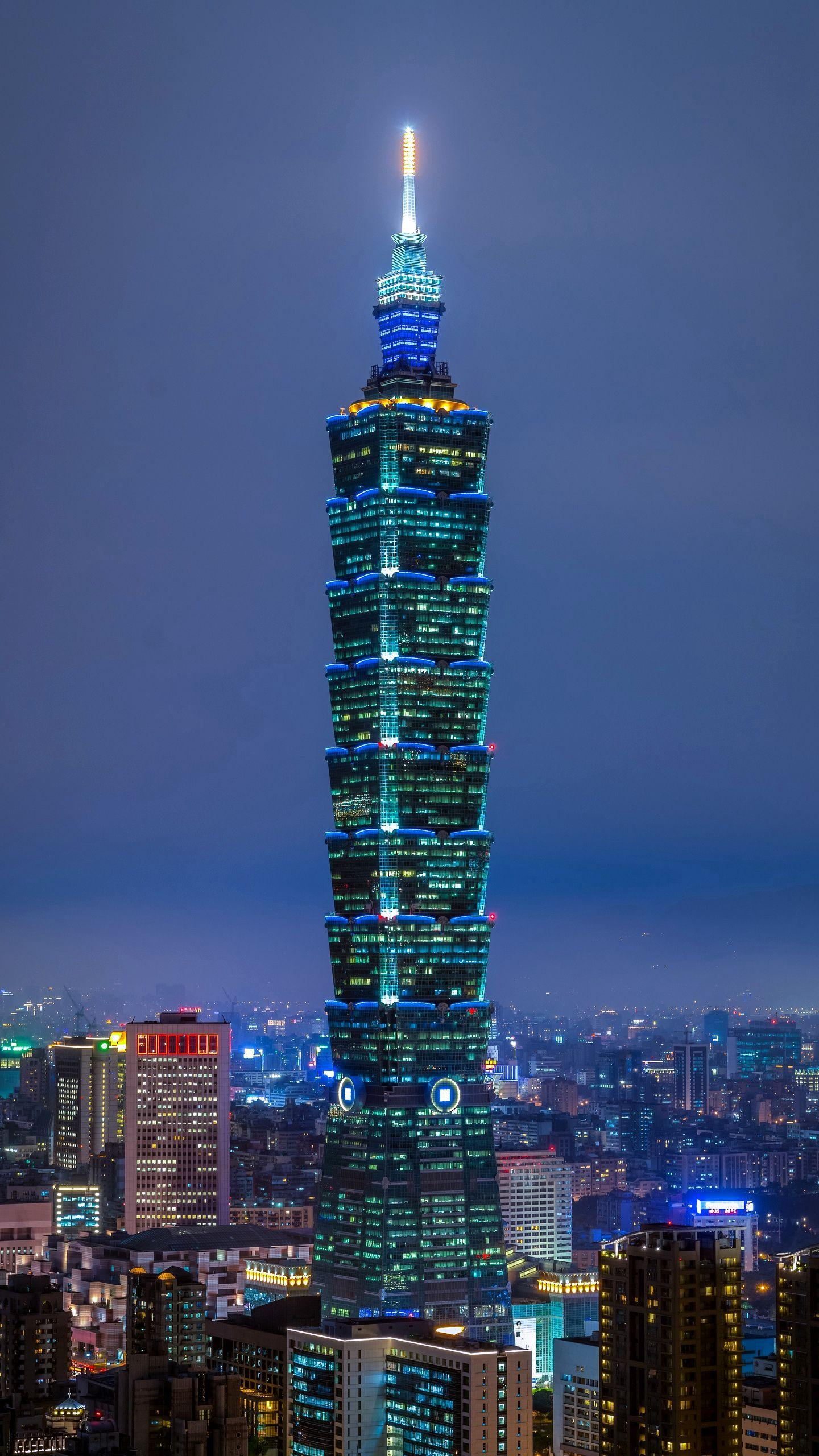 Taipei 101. Once the world's tallest Taipei 101 building, it has the world's fastest indoor elevator, which can climb 1010 meters in one minute.