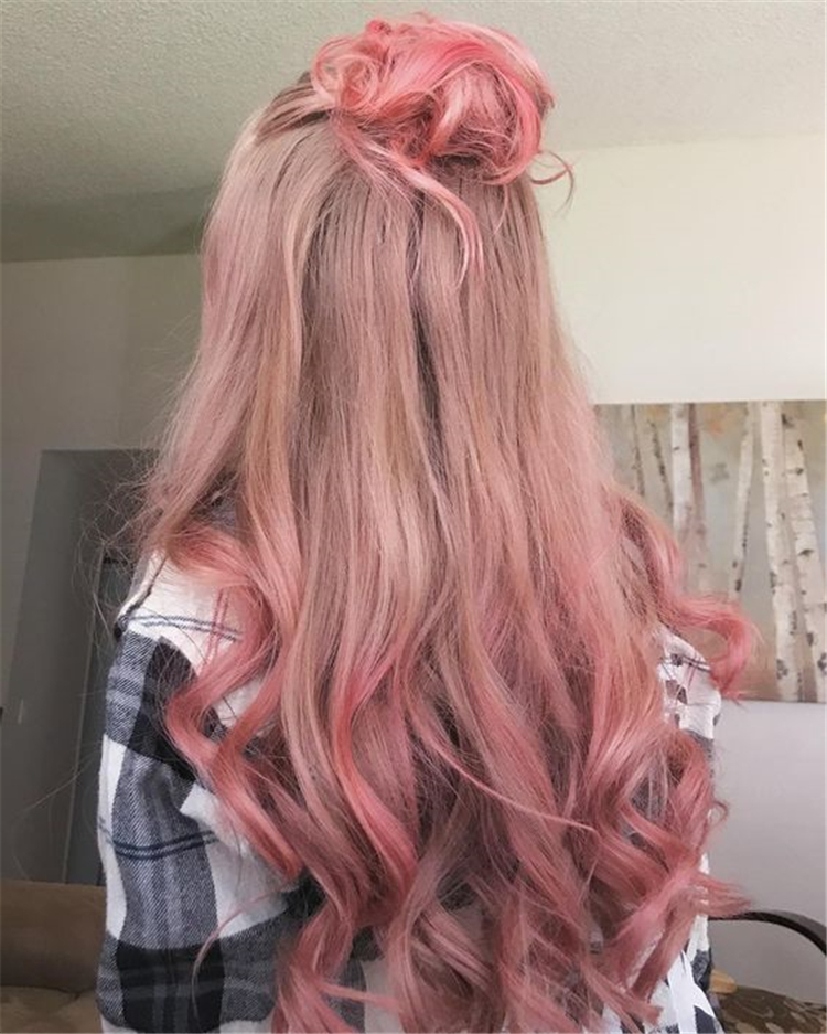 Peach Hair Hottest Hair Color In Spring and Summer Of 2019; Trendy hairstyles and colors 2019; Women hair colors;