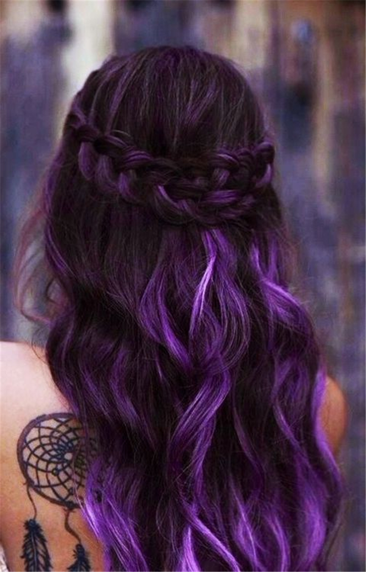 Lavender Hair With Gentle Highlights; Chic Lavender Ombre hairstyles; Adorable Silver Lavender Hair Trend in 2019