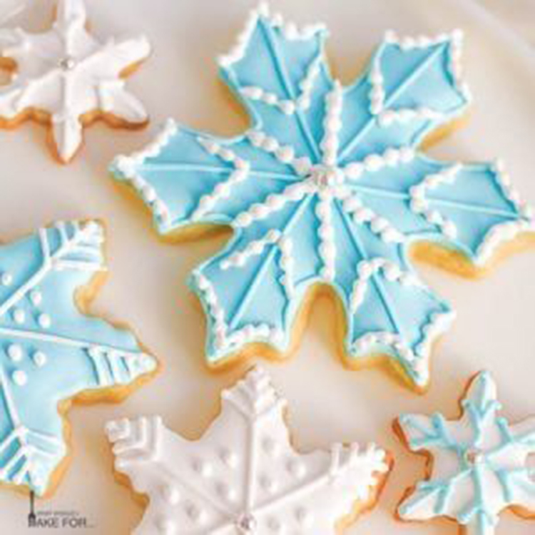Snowflake Cookies, Christmas Decorations; Christmas Crafts; Christmas Gifts;Christmas Cookies; Gingerbread Cookies, Decorated Cookies