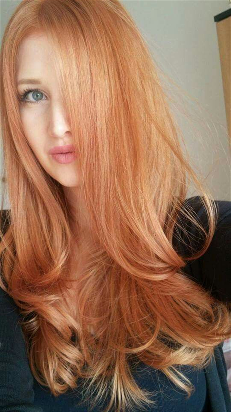 2019 Trendy Wild Fashion Hair Color Strawberry Blonde