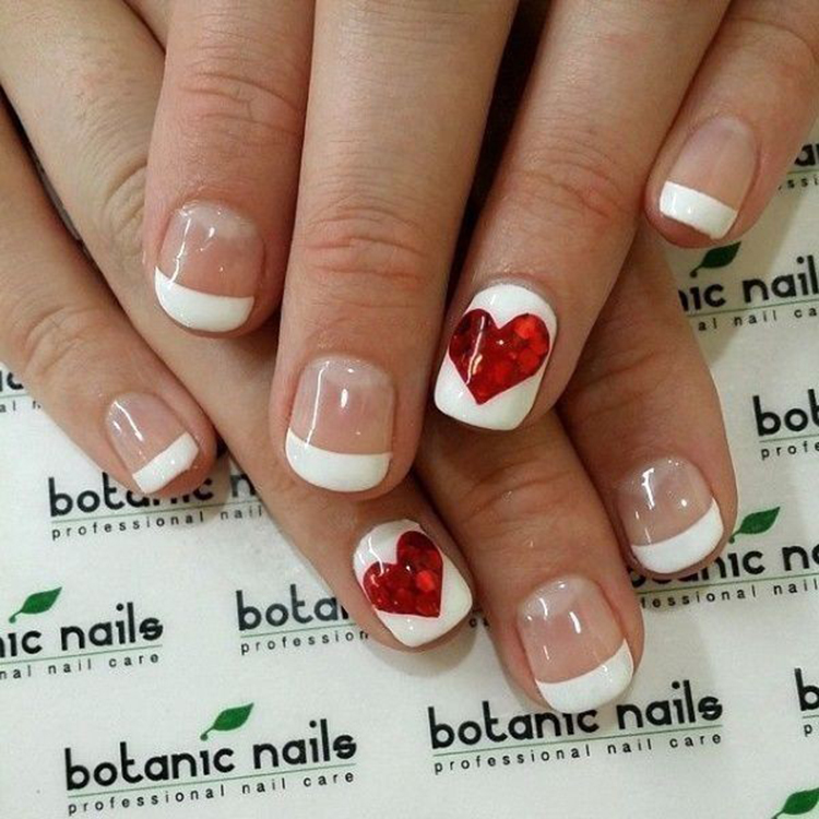 70+ easy valentine's day nail art ideas 2019; nail designs; nail art; acrylic nail; #Valentine'sday