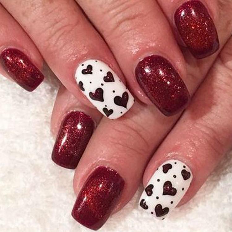 70+ easy valentine's day nail art ideas 2019; nail designs; nail art; acrylic nail; #Valentine'sday