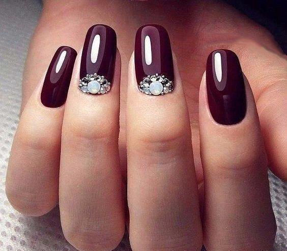 30+ Stunning Burgundy Nails Designs; Fall burgundy nails;Wine Red Stiletto Nails;Burgundy Wine Nail Color | Long Square Coffin Acrylic Nails | Shimmer Nail Art and Nail Design;Wine Red acrylic nails;dark burgundy red nail polish