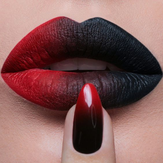 30 Lip Art Designs You Should See Before Halloween
